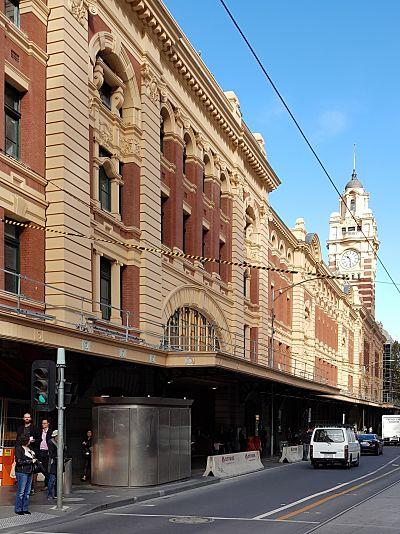 FLINDERS STREET TRAIN STATION Awning Façade